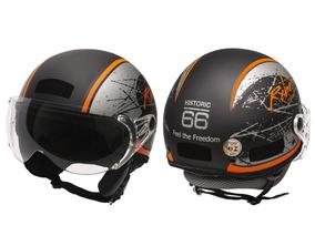 Capacete Kraft Plus Rebel G 58 - Custom Harley
