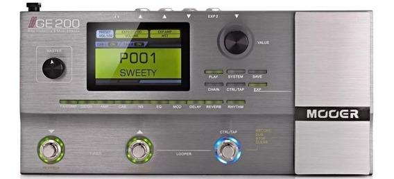 Pedaleira Mooer Ge200 Multi Efeitos Ge 200