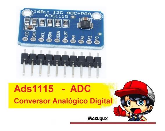 3 Ads1115 Conversor Analogico Digital 16 Bit I2c _ Pra Esp32