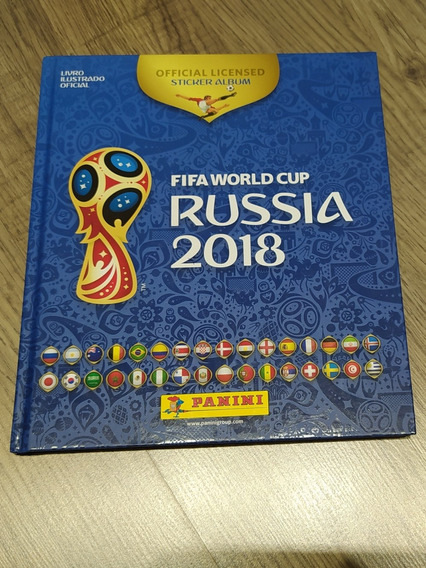 Livro Álbum Figurinha Copa Mundo Futebol Rússia Frete Grátis