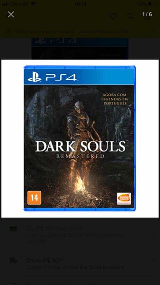 Jogo Dark Souls Remastered Ps4