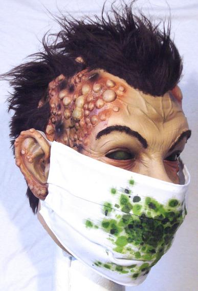 Máscaras Látex Corona Zombie Paciente Cero Disfraz Halloween