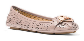 Flats Michael Kors Fulton Floral Perforated Leather Moccasin