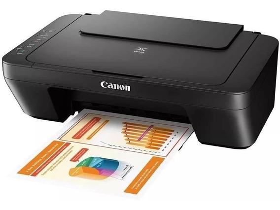 Impressora Multifuncional Canon Pixma Mg3010 Jato De Tinta Com Wi-fi - Impressora + Copiadora + Scanner