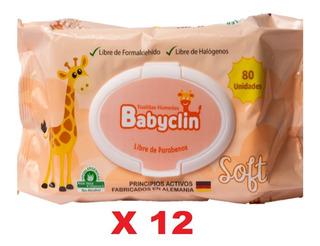 Toallitas Humedas Bebe 12 Bolsas De 80 Und Bablyclin Soft