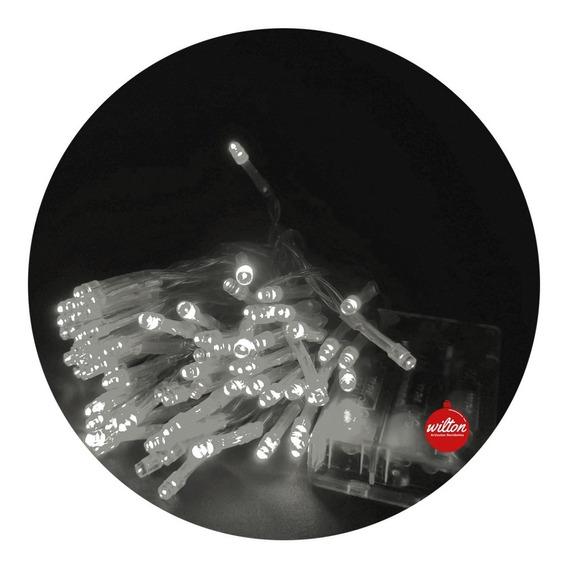 Luces Led Navidad Pilas Guirnaldas Decoración X 80 - Wilton