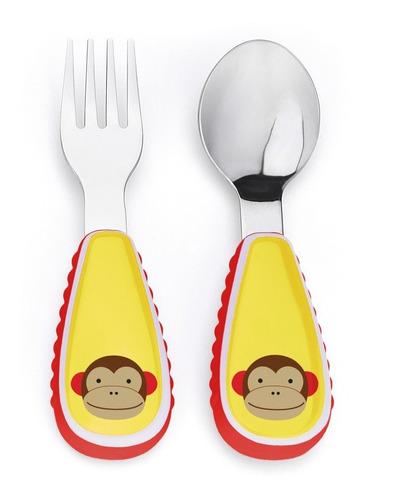 Imagen 1 de 1 de Set Cuchara Y Tenedor Zoo - Monkey