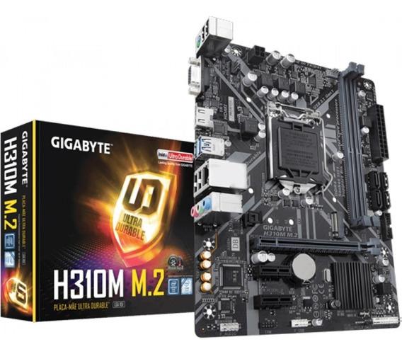 Placa Mae Gigabyte Intel Lga 1151 Ddr4 Hdmi/vga H310m-m.2
