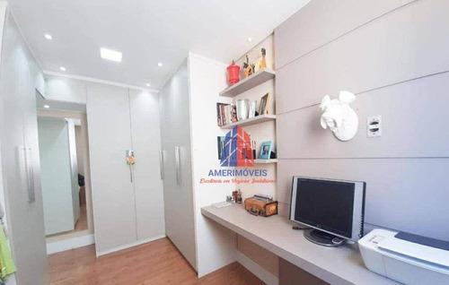 Imagem 1 de 22 de Apartamento Com 2 Dormitórios À Venda, 56 M² Por R$ 225.000 - Spazio Acrópolis  - Americana/sp - Ap1675