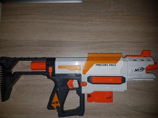 Rifle Nerf Con Cargador Para 6 Dardos