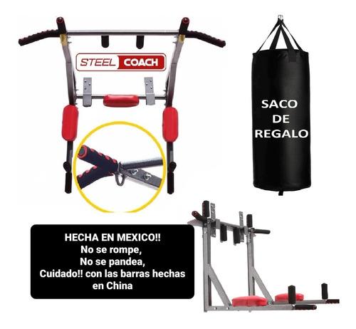Imagen 1 de 10 de Gym Barra Para Dominadas Color 8 En 1 Uso Rudo 400kg