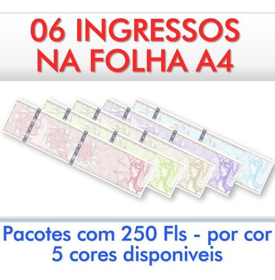 Papel Moeda A4 Para Ingresso Mod-06/3 - 2019 Pct 250 Folhas