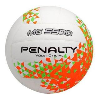 Bola De Vôlei Penalty Mg 5500 Viii - Branco E Laranja