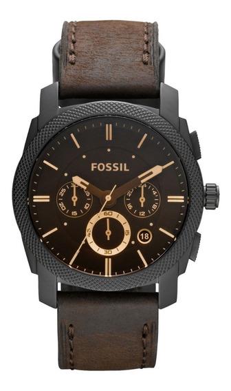 Reloj Caballero Fossil Fs4656 Color Café De Piel