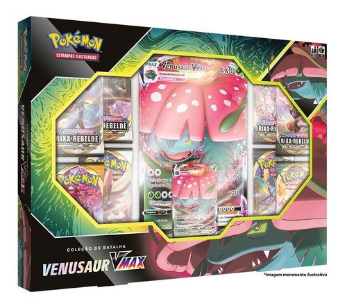 Card Game Pokémon Tcg Box Lacrada Venusaur Vmax Copag