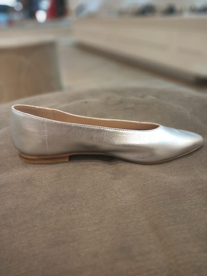 Zapato Mujer Ballerina En Punta Cuero # 145 V20