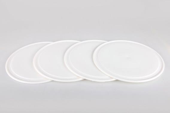 Plato Plastico De Asado X 48 Pizzera Individual Resistente