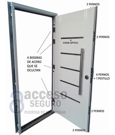Puerta Multianclaje De Seguridad Antibarreta Muy Robusta