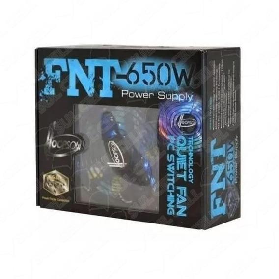 Fnt-650w Potência Real 650 W Hoopson 80 Plus Gold 14 Cm Atx