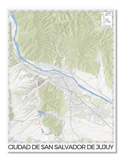 Mapa Ciudad San Salvador De Jujuy 80cmx61cm