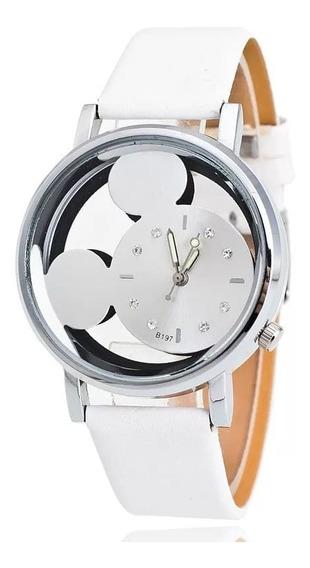 Relógio Feminino Mickey Mouse Branco