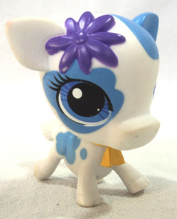 Littlest Pet Shop Original Vaca Con Flor Hasbro Cencerro