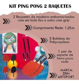 Casa Tênis Mesa Kit Ping Pong Rede Promoção 2 Raquetes Bola