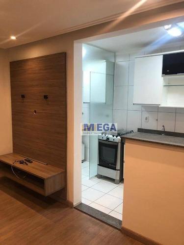 Apartamento Com 2 Dormitórios À Venda, 45 M² Por R$ 219.900 - Loteamento Parque São Martinho - Campinas/sp - Ap4936