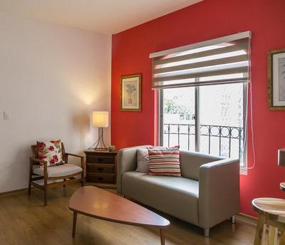 Lindo E Iluminado Apartamento De 1 Quarto Em Higienópolis