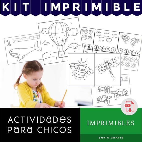Libros Actividades P Chicos Imprimibles Kit Escritura Pintar