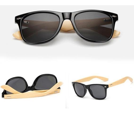 Óculos De Sol De Madeira Masculino/feminino Proteção Uv400