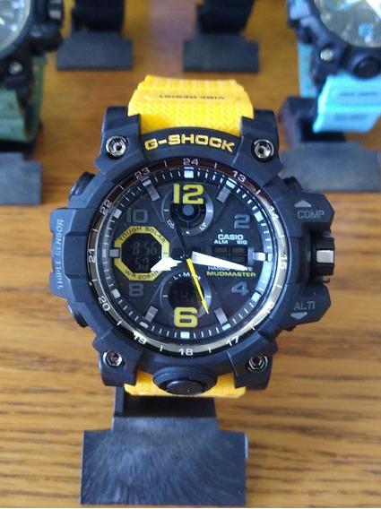 Relógio Masculino Casio G-shock Digital E Analógico Amarelo
