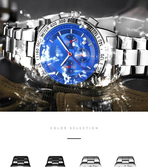 Relógio Ochstin - Fundo Azul - 44mm - Hardlex