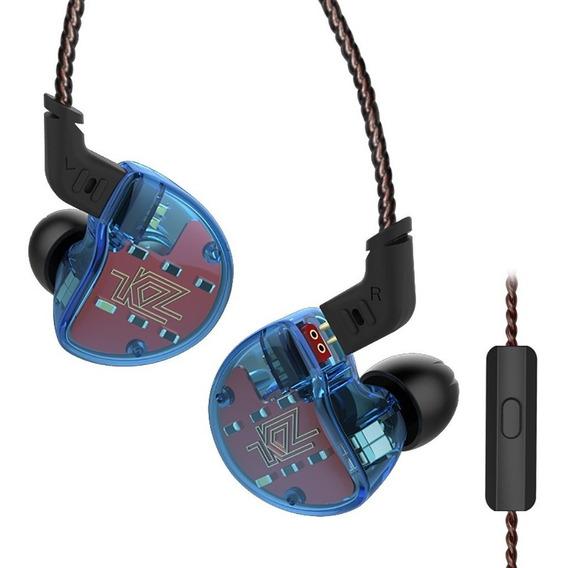 Fone Ouvido Kz Zs10 Hibrido Com Microfone Original Lacrado