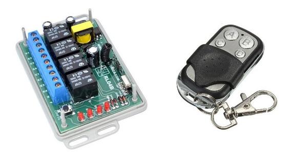 Módulo Relés 4 Canais Controle Rf 433mhz Entrada Interruptor