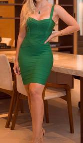 Vestido Verde De Bandagem