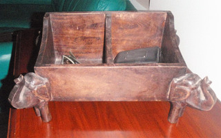 Excelente Cofre Madera Antiguo Caja Usos Varios