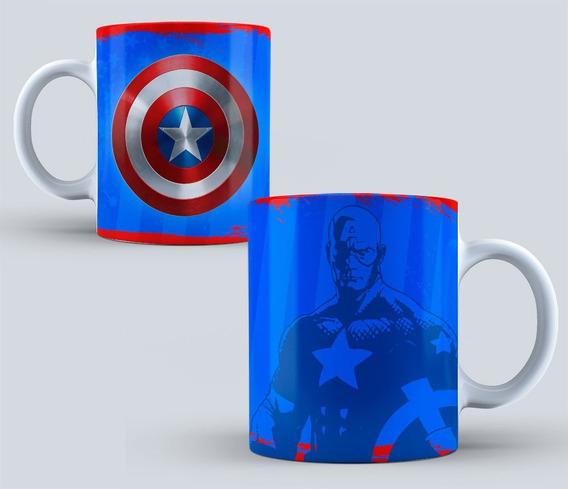 Taza Personalizada Colección Superheroes 07 (capitan
