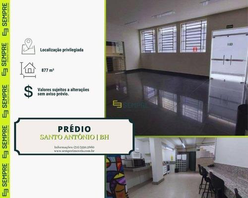 Imagem 1 de 6 de Prédio À Venda, 877 M²  Santo Antônio - Belo Horizonte/mg - Pr0036