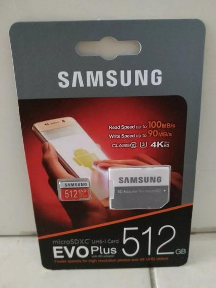 Cartão Samsung Micro Sdxc Evo Plus 512gb - Original