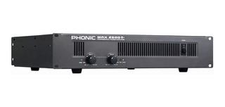 Potencia Amplificador Phonic Max 2500 (750w X 2) Envio Grati