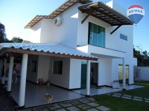 Casa Com 3 Dormitórios À Venda, 200 M² Por R$ 475.000,00 - Chácaras Panorâmicas - Santa Cruz Cabrália/ba - Ca0174