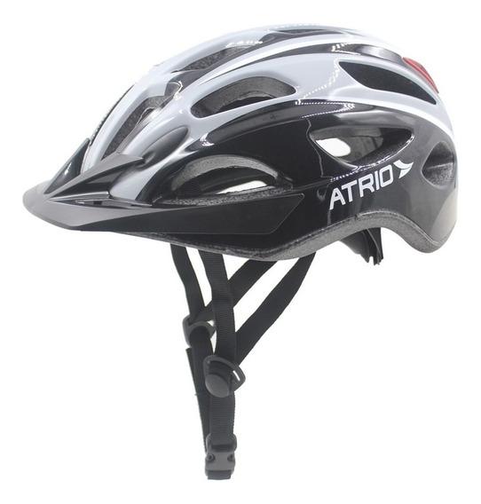 Capacete Para Ciclismo Átrio Bi113 Led 2 Branco E Preto G