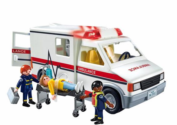 Playmobil Ambulancia 5681 Action Resgate Com Som E Luz