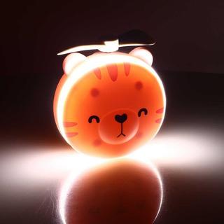 Espelho Led Para Maquiagem Iluminado Ventilador Luz Portátil