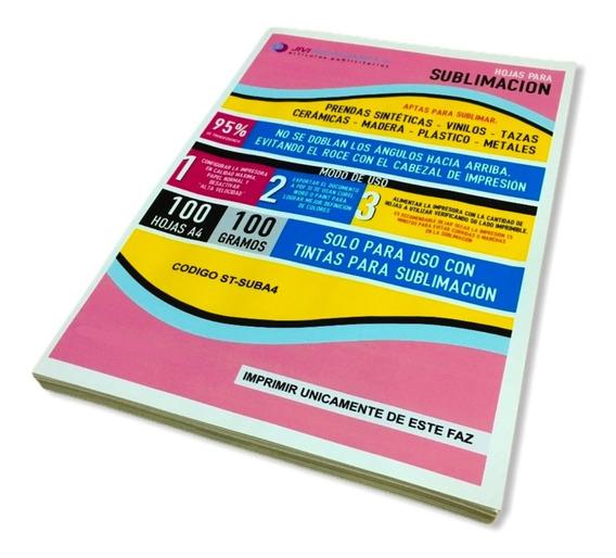 Papel Para Sublimación A4 Pack 100 Hojas Textil Y Rígidos