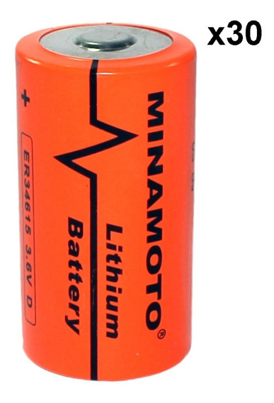 Kit 30 Baterias Er34615 3,6v 19ah Size D Minamoto Lithium