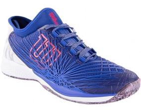Tenis Wilson Kaos 2.0 Clay - Azul/branco