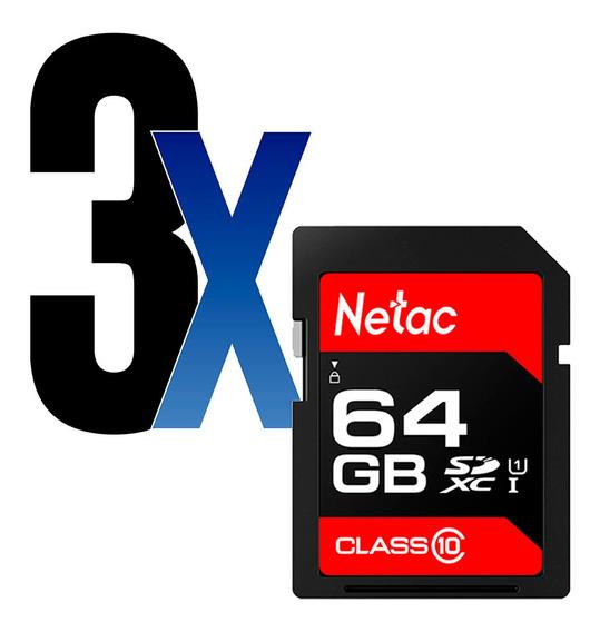 Cartão Memória 64gb Sdhc 100mb/s Netac 3un