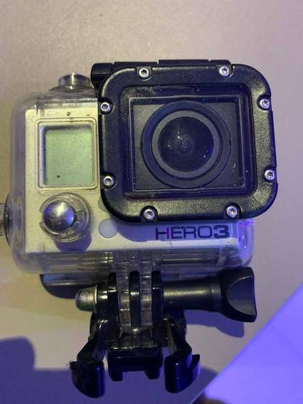 Camera Go Pro Hero 3 Black Com 3 Baterias E Acessórios